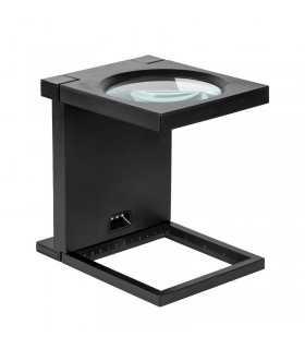 Stand cu lupa 108mm 2.5D 3x LED