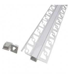 Profil aluminiu banda LED pentru rigips 2m mat V-TAC