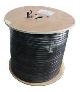 Cablu coaxial RG6 cu sufa 75R cupru ecranat cu folie Al +fire CUPRU 48x0.12mm Well