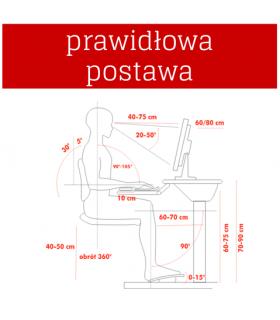Suport pliabil laptop 4WORLD 41x26x62cm