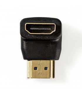 Adaptor HDMI tata in unghi conector 90 grade - intrare mama HDMI Nedis