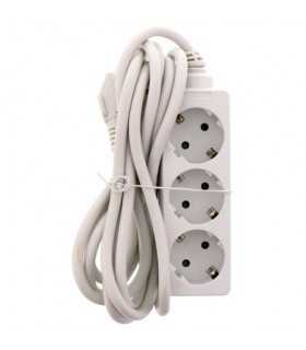 Prelungitor 3 prize 3m ignifug cablu 3xG1.5mmp Well