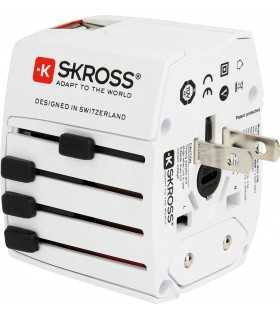 Adaptor priza Skross universal +2x port USB