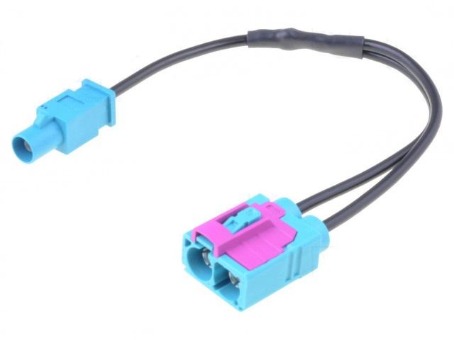 Cablu adaptor auto antena Fakra mufa tata - Fakra soclu mama dublu cu cablu PER.PIC. A9663-2