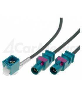 Cablu adaptor antena auto Fakra soclu mama - Fakra mufa tata x2 0.25m VWP 4CARMEDIA