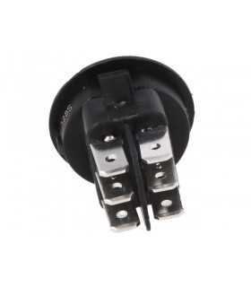 Intrerupator ROCKER DP3T ON-OFF-ON 10A 250VAC Pozitii 3 neagra fara 20mOhm CANAL ELECTRONIC MR3-230-R6-BBNWC