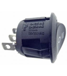 Intrerupator ROCKER SP3T ON-OFF-ON 10A 250VAC Pozitii 3 neagra fara 50mOhm SCI R13-112D-BB-7D