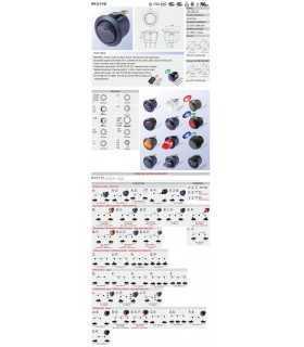 Intrerupator ROCKER SP3T (ON)-OFF-(ON) 10A 250VAC Pozitii 3 neagra fara 50mOhm SCI R13-112I-BB-7D
