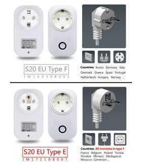 Priza SMART WiFi SOCKET 90-250V 10A SONOFF S20