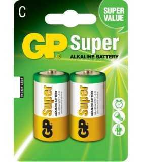 Baterii alcaline Super GP R14 C 2buc blister