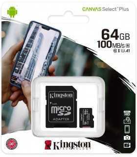 Card microSD Kingston 64GB Clasa 10 cu adaptor SD