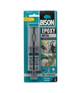 Adeziv de tip epoxid colorat metalic 24ml BISON EPOXI