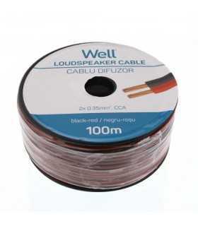 Cablu difuzor rosu/negru 2x0.35mm CCA Well