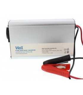 Invertor de tensiune 12V - 230V 600W Well