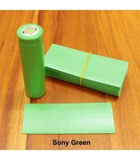 Folie termocontractabila pentru acumulatori 18650 verde