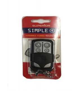 Telecomanda universala porti 433.92MHz 4 canale SUPERIOR SIMPLE 4 (293)