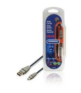 Cablu USB 2.0 USB A tata - USB Mini 5-pini tata 2metri Bandridge