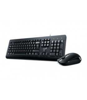 Kit tastatura si mouse Genius KM-160 1000dpi USB negru