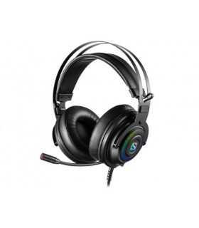 Casti Gaming Sandberg 126-11 Dizruptor 7.1 USB microfon negru