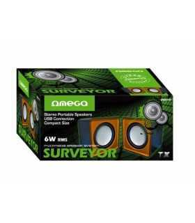 Boxe multimedia Surveyor 2.0 USB 2x3W portocaliu Omega