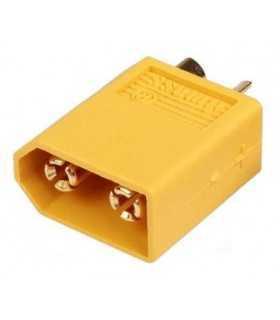 Mufa alimentare DC XT60 tata pin 2 pe cablu cu lipire 30A 500V AMASS XT60-M