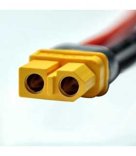 Mufa alimentare DC XT60 mama 2 pini pe cablu cu lipire 30A 500V AMASS XT60H-F