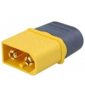Mufa alimentare DC XT60 tata 2 pini pe cablu cu lipire 30A 500V AMASS XT60H-M