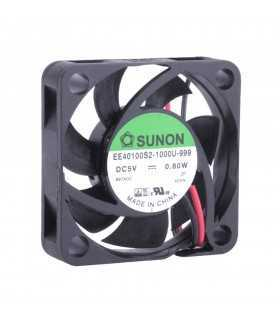 Ventilator DC axial 5VDC 40x40x10mm 11.99m3/h 23dBA 26AWG SUNON EE40100S2-1000U-999