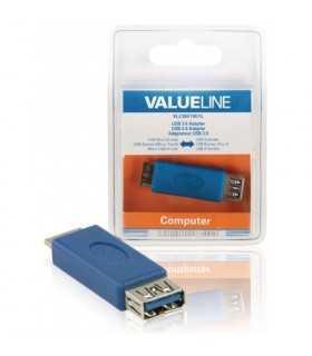 Adaptor USB 3.0 Micro USB B tata 3.0 - USB A mama 3.0 albastru VALUELINE