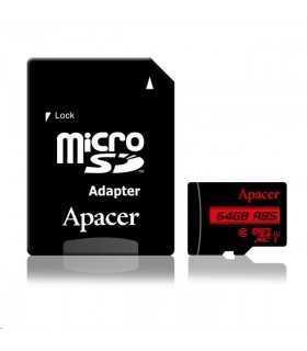 Card microSDXC UHS-I Apacer 64GB clasa10 cu adaptor SD