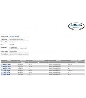 Incarcator baterii reincarcabile plumb-acid 12V 700mA 2-7Ah CELLEVIA POWER CL14.4VDC-0.7A