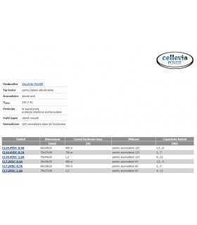 Incarcator baterii reincarcabile 6V plumb-acid 1.2A 4-12Ah CELLEVIA POWER CL7.2VDC-1.2A