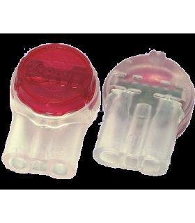 Conector 3 fire 0.4-0.9mm cu gel de etansare rapida Scotchlok IDC 19-26AWG rosie 3M UR2 80611327596