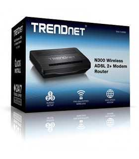 Router N300 Wireless ADSL 2/2 +modem Trendnet