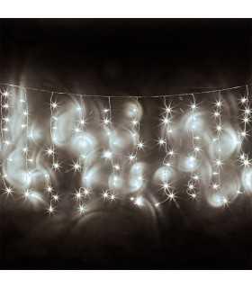Perdea 650 LED-uri 9W IP44 alb rece 10m REBEL