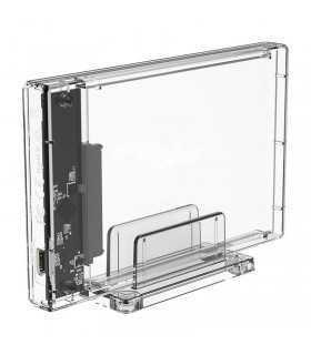"Rack HDD Orico 2159C3 USB 3.1 2.5"" transparent"
