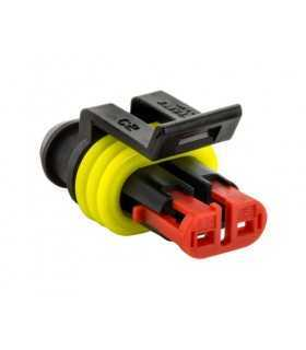 Conector cablu-cablu Superseal 1.5 mufa mama PIN 2 IP67 TE Connectivity 282080-1