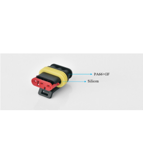 Conector cablu-cablu Superseal 1.5 mufa mama PIN 3 IP67 TE Connectivity 282087-1