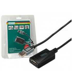 Repeater USB 2.0 USB A soclu - USB A mufa 5m DIGITUS DA-70130-4