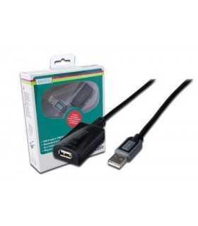 Repeater USB 2.0 A soclu - USB A mufa 10m DIGITUS DA-73100-1
