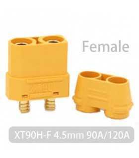 Mufa alimentare DC XT90 mama PIN 2 pe cablu lipite 40A 500V AMASS XT90H-F