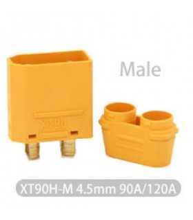 Mufa alimentare DC XT90 tata PIN 2 pe cablu lipite 40A 500V AMASS XT90H-M