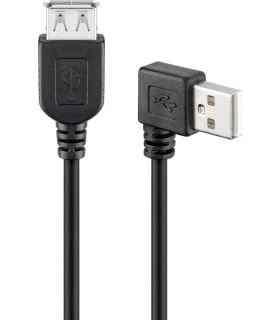 Cablu prelungitor USB 2.0 Hi-Speed A tata 90 - A mama drept 0.3m Goobay