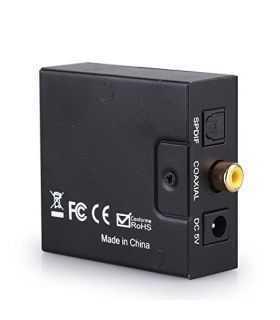 Adaptor Audio TOSLINK DIGITAL la ANALOG 2x RCA +JACK mama 3.5mm