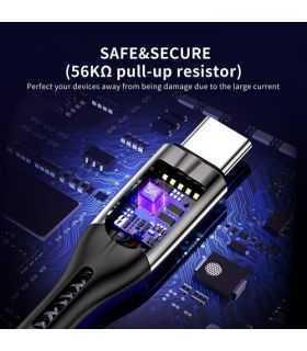 Cablu USB A - USB Type C 5A 25W 1.2m negru Choetech AC0013