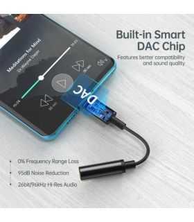 Cablu adaptor USB tip C - Jack 3.5mm mama pentru casti Choetech AUX003