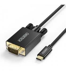 Cablu USB Type C - VGA Choetech XCV-1801 1.8m negru