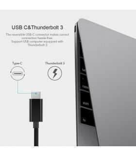 Cablu adaptor USB tip C tata - RJ45 mama retea Gigabit Choetech R01