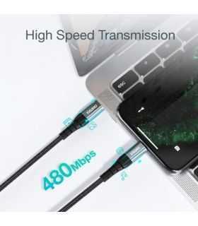 Cablu USB tip C - Lightning MFi 1.2m negru Choetech IP0039