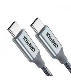Cablu USB Type C - USB Type C PD 100W 1.8m gri Choetech XCC-1002-GY